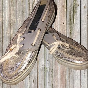 Sequined sperrys